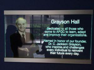 APQC's Grayson Hall