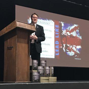 Jonathan Sandys presented Lead Like Churchill at Terrell High School