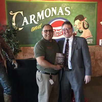 Jonathan Sandys with Rick Carmona
