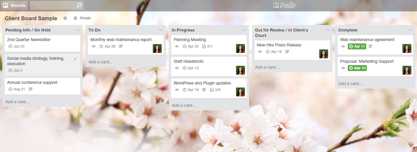 Trello sample