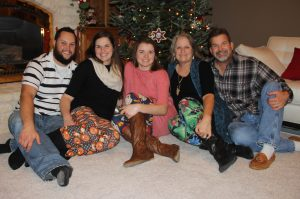 Jamie Boelens and family Christmas picture.