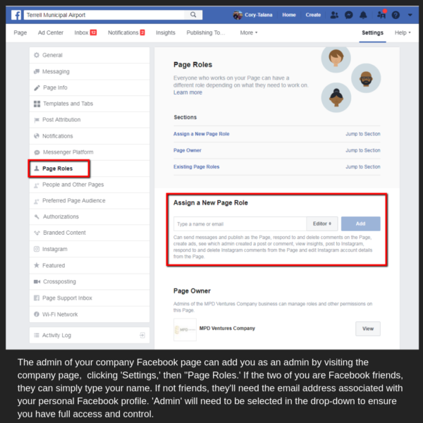 How to manage Facebook roles